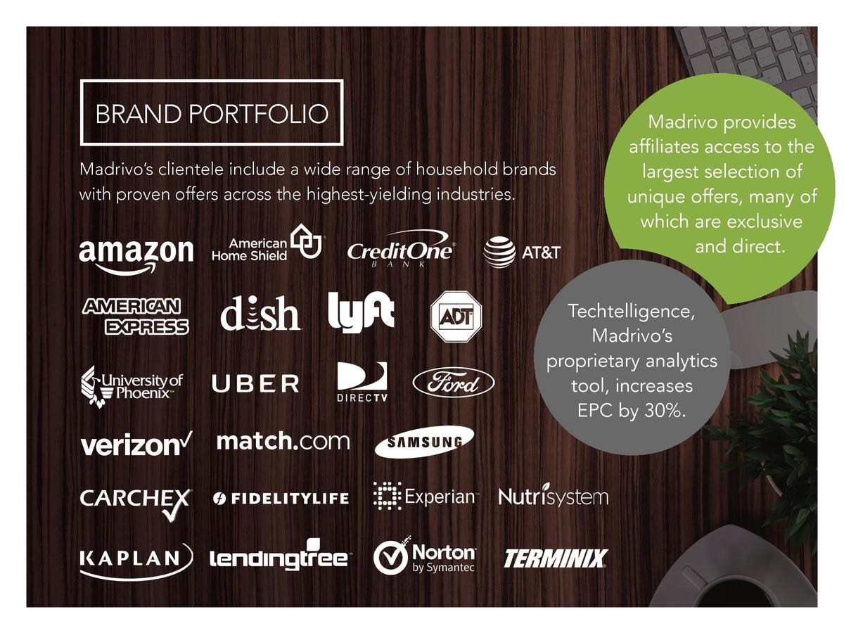 BRAND PORTFOLIO Madrivo   s clientele include a wide range of household brands with proven offers across the highest-yield...